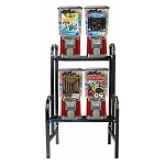VendPro 4 Unit Bulk 1-inch Toy Capsule, Candy, Gumball & Bounce Ball Vending Machine Rack